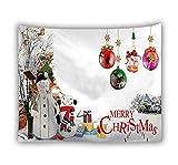 mengtianfushi234 Home Arazzo da Parete Natale Babbo Natale Tenture Hippie Arazzo Mandala Tappeto da Parete Coperta Fogli Natale Navidad Fattoria Decor-100X70CM