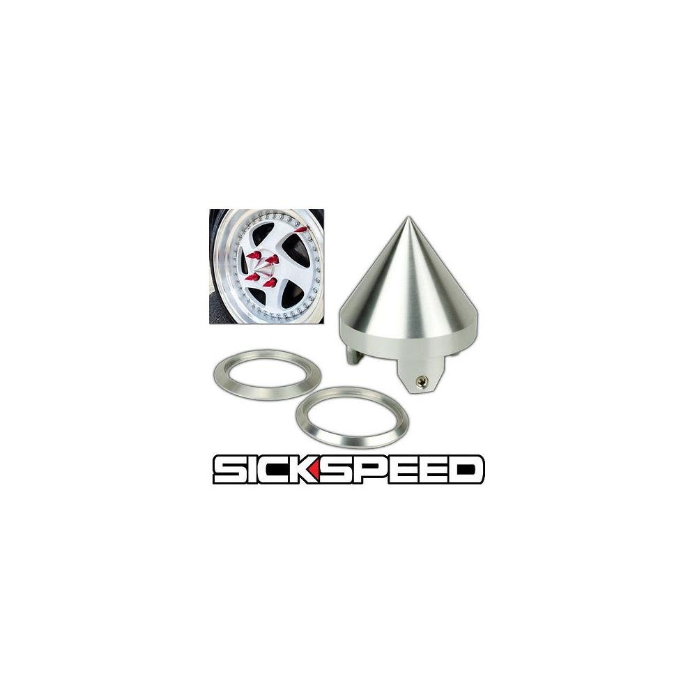 4Pc Sickspeed Spiked Bolt For Engine Bay Dress Up Kit 10X1.25 P1 Neo Chrome for Honda Accord