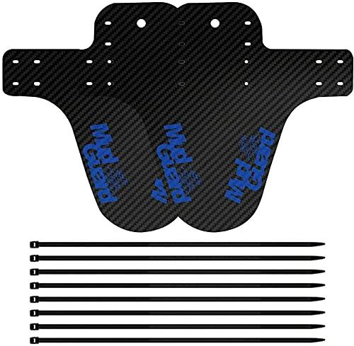 AIlysa 2 PCS Fahrrad-Schutzblech, Schutzbleche Mountainbike, MTB Schutzblech, Hinten und Vorne Mud Guard, Mountainbike Mudguard Spritzschutz für Jede Fahrradgröße (Blau)