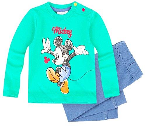Pantalon et T-shirt manches longues bébé garçon Mickey Vert/bleu 3 à 24mois (3 mois)