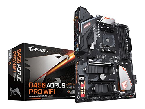 GIGABYTE B450 AORUS PRO Wi-Fi (AMD Ryzen AM4/ATX/M.2 Thermal Guard with Onboard Wi-Fi/HDMI/DVI/USB...