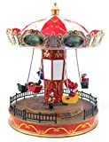 Musical Christmas Carousel | Animated Pre-lit Musical Carnival Snow Village | Perfect Addition to Your Christmas Indoor Decorations & Christmas Village Displays
