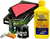 Kit tagliando Bardahl XTM 10W40 filtro olio aria candele Yamaha XJ6 Diversion