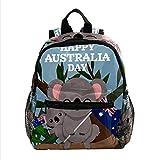 Lindo divertido Australia Koala patrón mini mochilas preescolares para niña, mochila para viaje escolar, Multicolor 05,