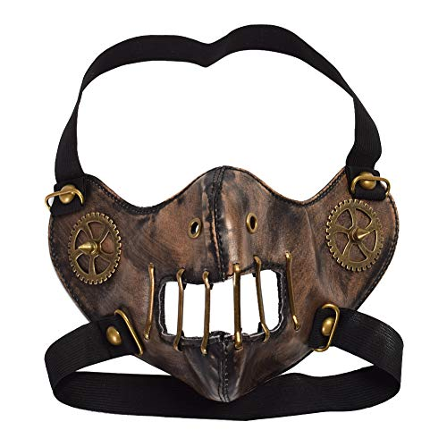 BLESSUME Gotisch Steampunk Gang Mode Unisex Cosplay Gesicht Accessory (Brown)
