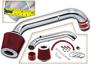 Rtunes Racing Short Ram Air Intake Kit + Filter Combo RED Compatible For 96-00 Honda Civic DX LX CX
