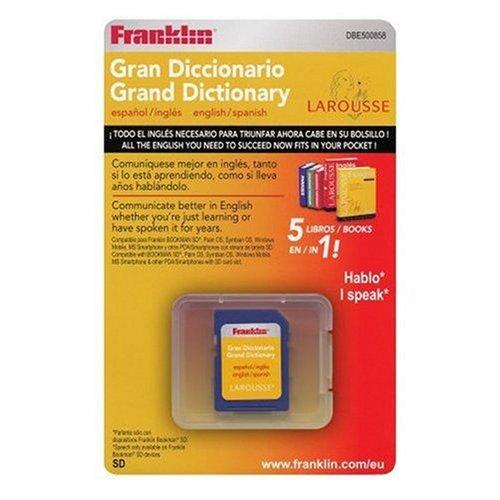 Franklin DBE-500858 Larousse Großes elektronisches Wörterbuch Englisch-Spanisch für Bookman-SD, Handhelds mit Palm-, Windows mobile-, Symbian-OS + SD-Slot