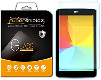 2 Pack  Supershieldz Designed for LG G Pad 7.0 and LG G Pad 7.0 LTE Screen Protector  Tempered Glass  Anti Scratch Bubble Free