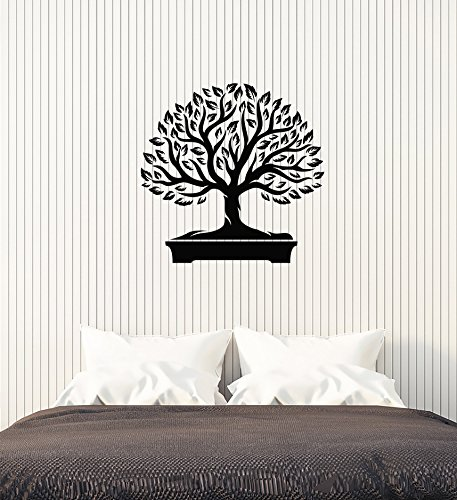 Vinyl Wall Decal Bonsai Tree Japanese Home Interior Japan Art Stickers Mural Large Decor (ig5684)