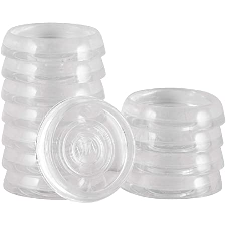 "Waxman Consumer 1 3//4"" Round Carpet Bottom Caster Cups Set Of 8 New Free Ship"