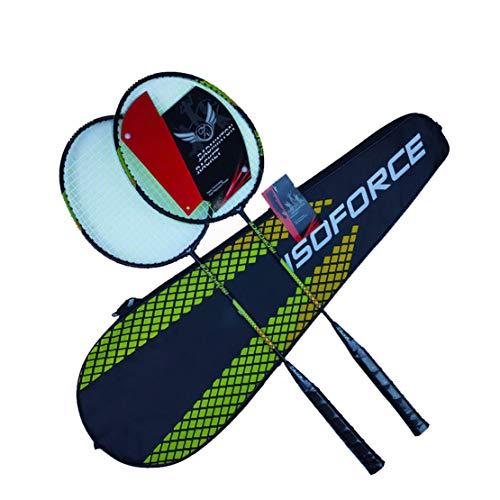 HiXB para La Competencia Raqueta De Badminton Set De Raquetas De Bolas con Estuche Adecuado para Competiciones, Adultos, NiñOs. Cuatro Opciones De Color,Yellow