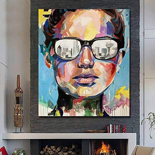 N / A Rahmenlose Malerei Abstrakte Kunst Dallas Bild Ölgemälde Porträt Leinwand Modern50X70cm