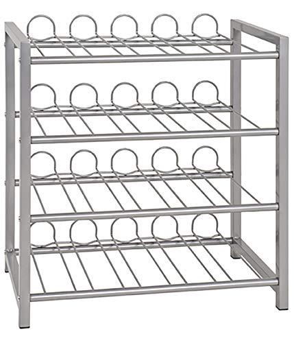Haku Möbel Flaschenständer - Stahlrohr alufarben lackiert - für ca 36 Flaschen H 60 cm