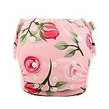 Babygoal Reusable Swim Diaper for Girls, One Size Adjustable...