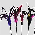Westeng Lot de 4 plumeaux avec clochettes pour chat Couleur aléatoire #1