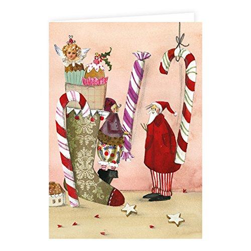 –Set biglietti natalizi di Silke Leffler 8biglietti con busta
