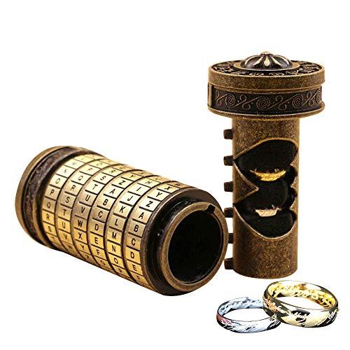 Blue-Yan Da Vinci Code Mini Cryptex Puzzles y Rompecabezas, Interesantes Regalos de cumpleaños románticos creativos de Lock codificado para tu Amante, Día de San Valentín