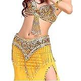 Vestido Mujer para Danza Disfraz de danza del vientre Vestido de danza de cola de pescado Con cuentas Conjunto de sujetador de baile indio sexy 3 piezas Salón de Baile Ballroom Dancewear Adulto