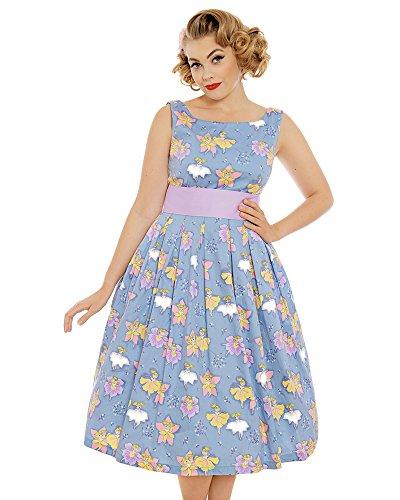 Lindy Bop Damen Kleid Blau blau Gr. 34, blau