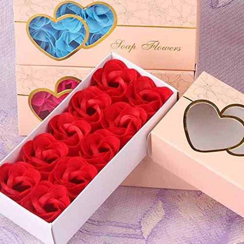 SXLWW - Set di 10 Petali di Rosa romantici per Sapone e Fiori Artificiali, Ideali Come Regalo per San Valentino 5