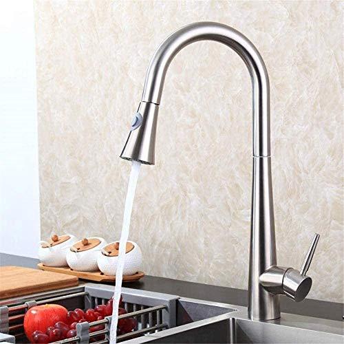 Grifos de cocina Grifos de baño Grifo mezclador Grifo de fregadero de cocina de alta calidad Grifo extraíble flexible Grifo de agua fría y caliente Grifo de puente Grifo Mezclador Grifo Cocina moderna