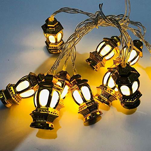 Apofly Muslim Ramadan String Lights,led String Lights Fairy Lights Ramadan Moon Star 1.65m String Lights for Eid Mubarak Ramadan Decoration Golden