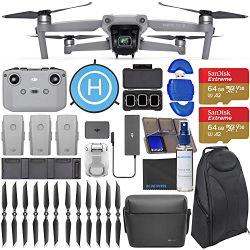 DJI Mavic Air 2 Fly More Combo - Drone Quadcopter UAV with 48MP Camera 4K Video 128GB Pilot Bundle with Backpack + Landing Pad + More