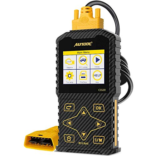 """AUTOOL OBD2 Scanner Universal Check Engine Car Code Reader Auto OBDII CAN Diagnostic Scan Tool with Live Data, Print & 2.8"""" Color Display"""