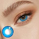 Color Ċontäcts for Eyes-1 Set of Eye Color Ċontăcts, Color Ċontącts for Eyes, Contact_ Colored Make-ups_Gifts for Beautiful Girls & Womens (C-Blue)