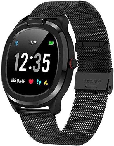 JSL Reloj inteligente de pulsera de fitness para hombres y mujeres, medición de la temperatura del cuerpo del clima, impermeable IP68, ECG, PPG