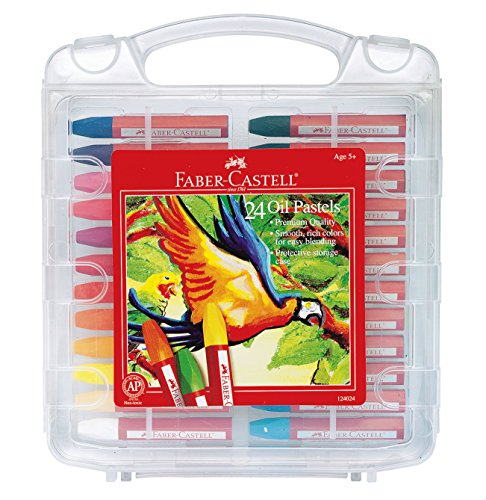 Faber-Castell Blendable Oil Pastels In Durable Storage Case- 24 Vibrant Colors - Non-Toxic Pastels for Kids