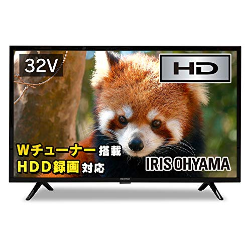 Iris Ohyama 32 V LCD TV 32 WB10P High Vision, Supports Under-program Recording, External HDD Recording Compatible