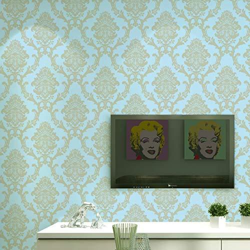 Modern Minimalist Wunderschöne Wandverkleidung Papierdekoration Streifen Tapeten für Blau 53x1000cm