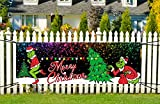 Grinch Merry Christmas Yard Sign Banner 2020 Stink Stank Stunk Christmas Yard Sign Outdoor Party Decorations Grinch Christmas Decorations