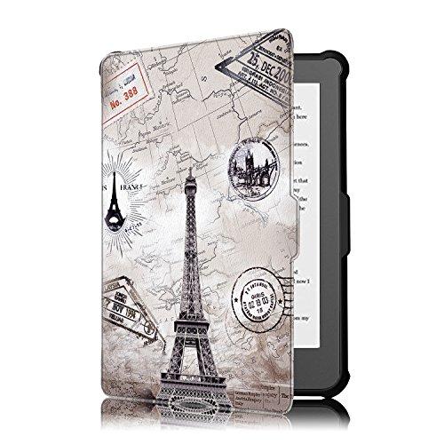 Kobo Clara HD Cover - Folio Custodia Ultra Sottile e Leggero con Coperture Funzione Auto Sveglia/Sonno per Kobo Clara HD Touchscreen E-Book Readers (15.2 cm (6') Modello 2018, Mappa Torre