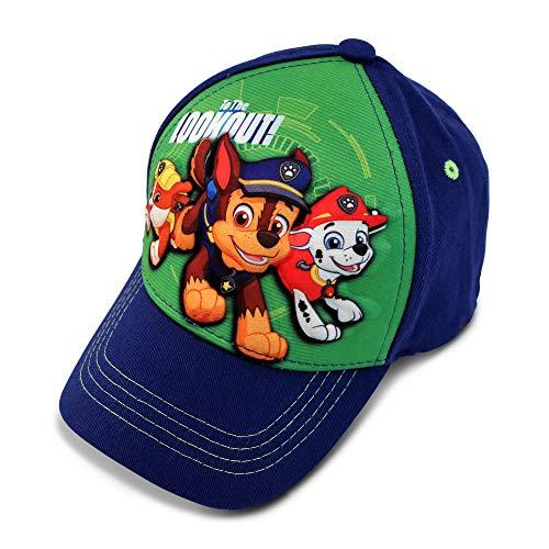Nickelodeon Boys' Toddler Paw Patrol Character 3D Pop Baseball Cap, Blue/Green, Age 2-4