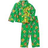 Teenage Mutant Ninja Turtles 2 Piece Button Down Flannel Pajama Set (5T)