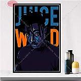 wZUN Rapero Estrella Cantante de música Pintura al óleo Cartel impresión Arte Lienzo Imagen Sala de Estar decoración del hogar 59x84cm Sin Marco