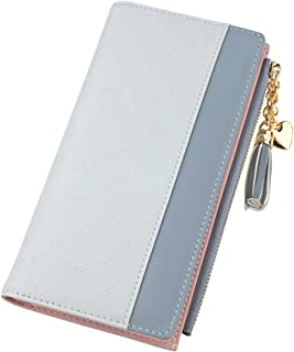 Wiwsi Plaid Design Wallet Women Clutch Pu Leather Card Lady Holder Zipper Purses