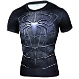HOOLAZA T-Shirt Compression Homme Avengers Super Heroes Compression Spiderman Hauts Fitness