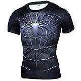 HOOLAZA Avengers Super Heroes Hombres Camiseta de compresión Spiderman Tops Fitness