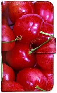 seventwo LG Q Style2 L-01L スマホケース 手帳型 携帯ケース カードホルダー エルジー キュー スタイル ツー 【C.さくらんぼ】 果物 フルーツ other_049