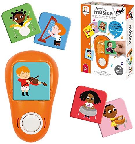 Diset elettronico + 3 Anni Giocattolo educativo per Imparare la Musica (62324), Colore/Modello Assortiti