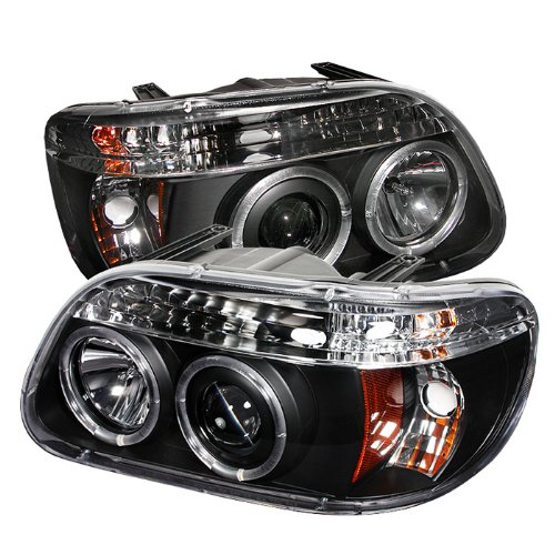 Spyder PRO-YD-FEXP95-HL-1PC-BK Ford Explorer 1 Piece Halo Black Projector Headlights Assembly (Sold in Pairs)
