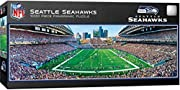 Dr. Toy Award of Excellence - 100 Best Toys Officially Licensed NFL Product 1000 Pieces in finished 13 inch by 39 inch puzzle. Suitable for framing when assembled ŸThick recycled puzzle board and random cut pieces ensure a tight interlocking fit and ...