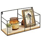 mDesign Estante Decorativo – Pequeña repisa Flotante para Objetos de decoración, como Velas y...