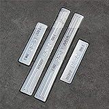 ZWH-box Revestimiento de Acero Inoxidable umbral de protección de Placas umbral de Limpieza de Pedales