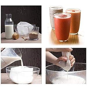 "Freehawk Nylon Straining Bag Fine Mesh Food Strainer BagReusable Strain Tea Pulp Juice Food Nut Milk Filter Bag(15.7"" x 15.7"", 8 Packs) |"