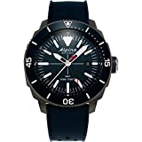 Alpina Men's Seastrong Diver Titanium/Stainless Steel Swiss Quartz Diving Watch with Rubber Strap, Blue, 22 (Model: AL-247LNN4TV6)