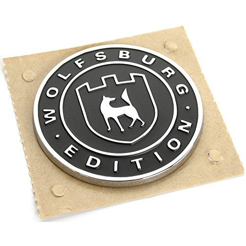 Original Wolfsburg Edition Plakette satinschwarz chromglanz, selbstklebend